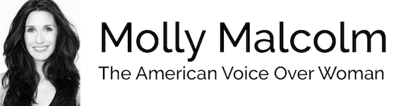 The American Voice Over Woman | Female Voiceover Artist Logo